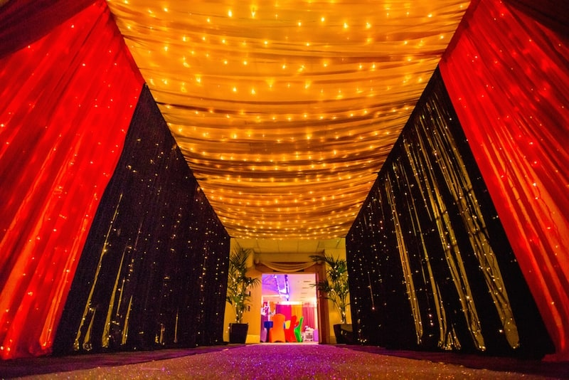 Wall & Ceiling Draping Hire