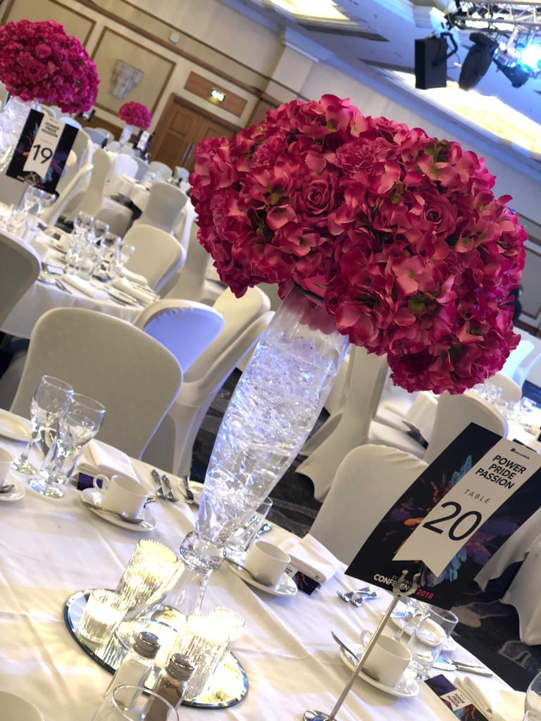 Cherry Pink Ball Table Centres