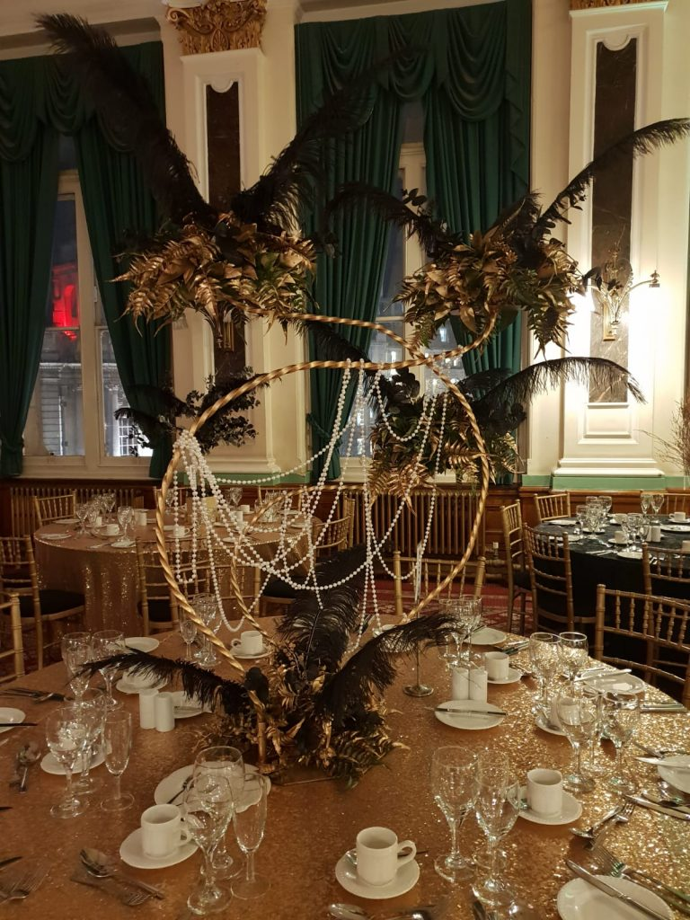 Great Gatsby Theme Table Centres