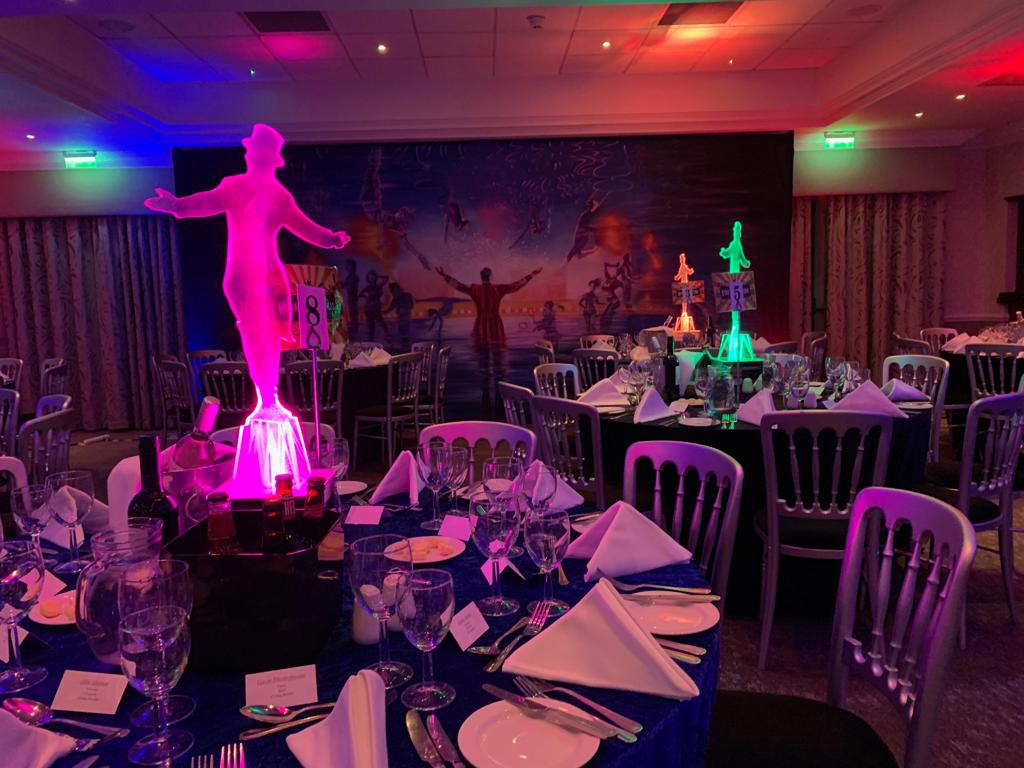 Light Up Ring Master Table Centres