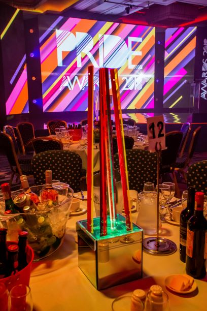Light Up Shards Table Centres