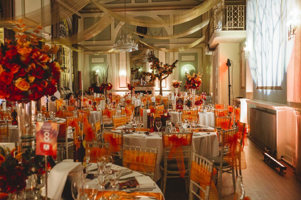 Autumn Theme Floral Table Centres