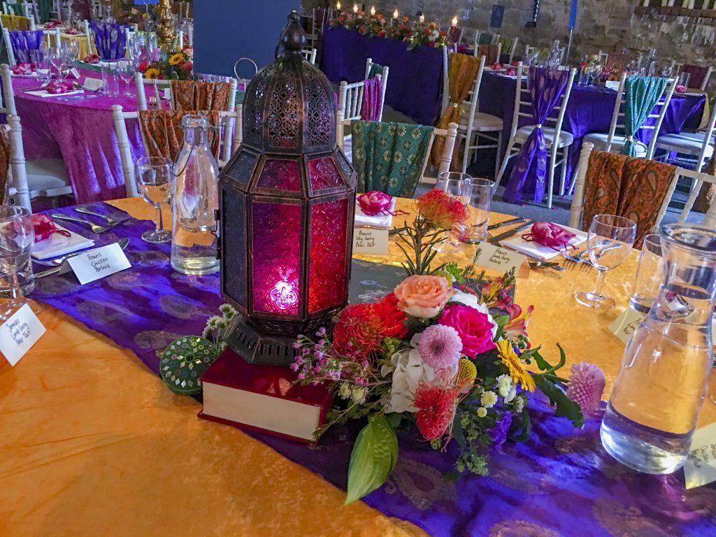Bollywood Theme Table Centres