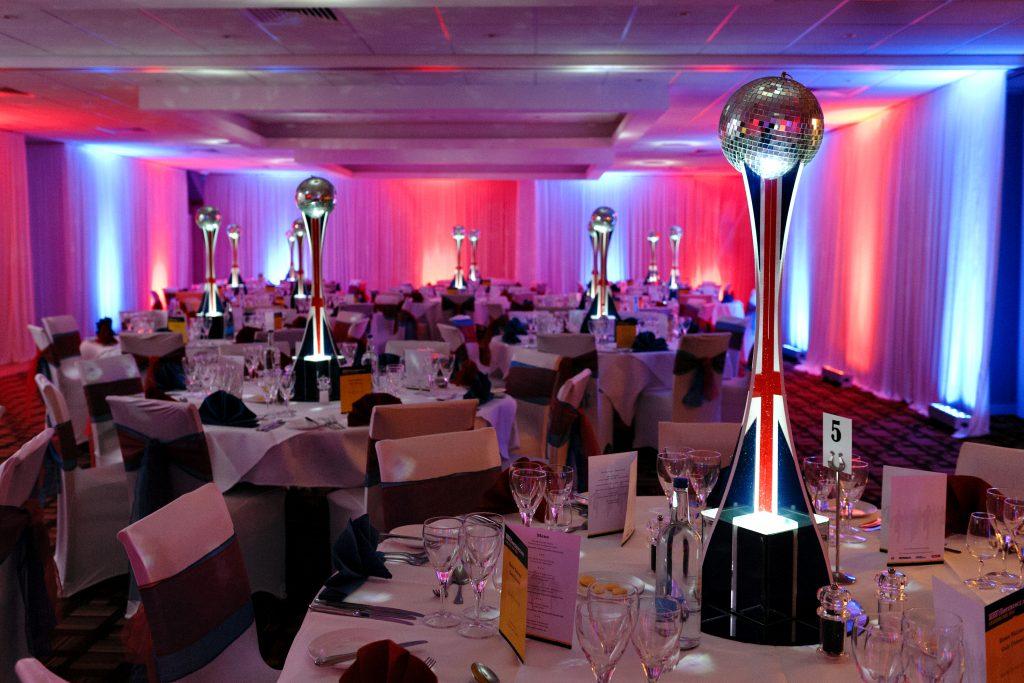 British Mirror Ball Table Centres