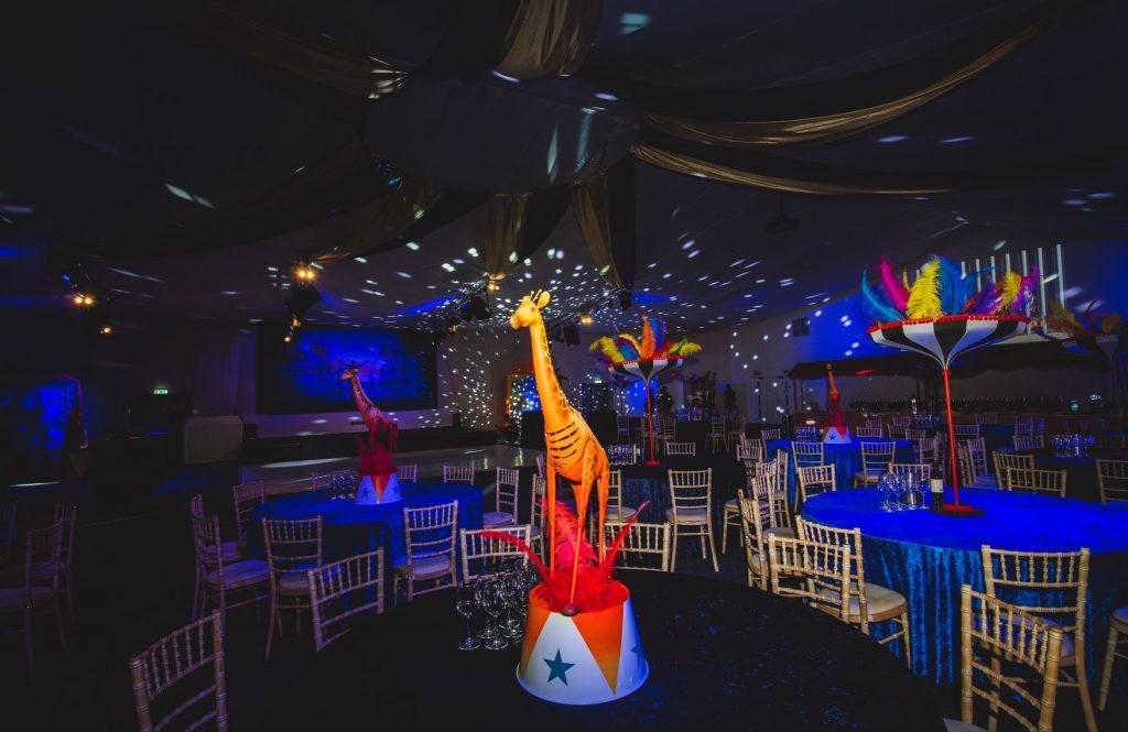 Circus Theme Giraffe Table Centres