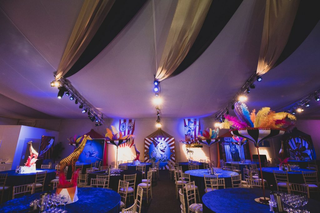 Circus Theme Parasol Table Centres