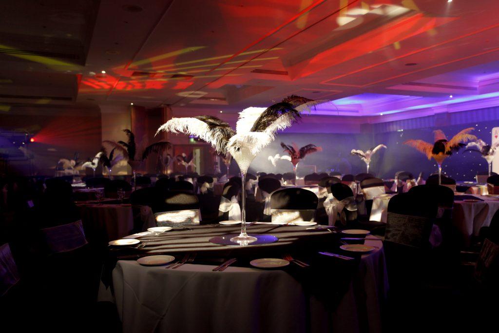 James Bond Theme Table Centres