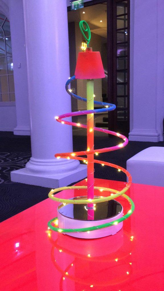 Neon Theme Table Centres