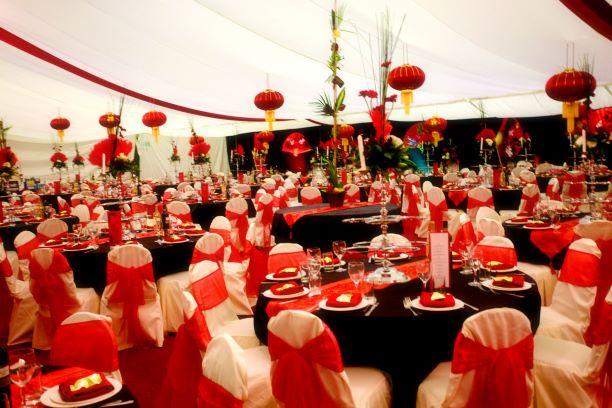 Oriental Theme Lantern Table Centres