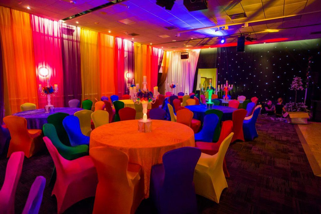 Rainbow Candelabra Table Centres