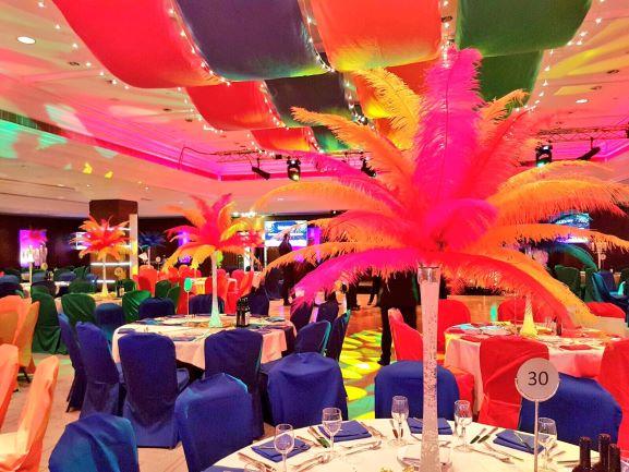 Rio Carnival Theme Table Centres