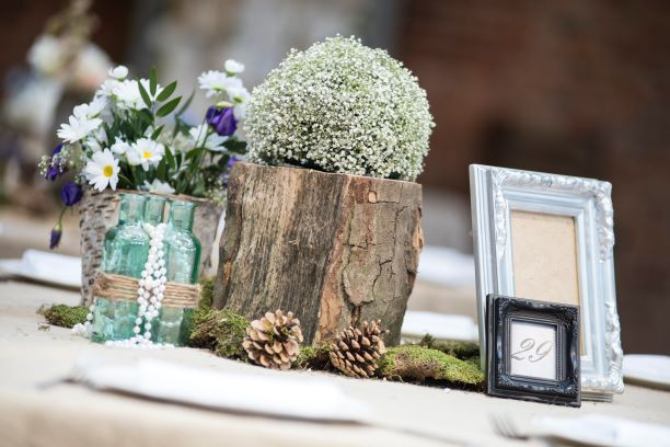 Rustic Vintage Table Centres