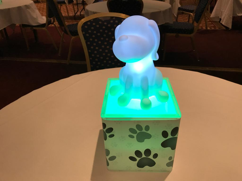 Light Up Dog Table Centres